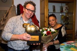 Udo Holtappels en Jorgen Bijsterveld: vrijwilligers van het jaar 2015 van inloophuis De Cirkel