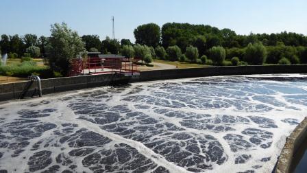 28 Waterzuivering slibtank